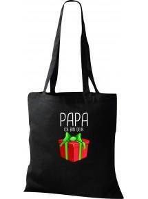 Kinder Tasche, Papa ich bin dein Geschenk Weihnachten Geburtstag, Tasche Beutel Shopper