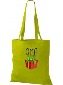 Kinder Tasche, Oma ich bin dein Geschenk Weihnachten Geburtstag, Tasche Beutel Shopper