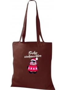 Kinder Tasche, Frohe Weihnachten Pinguin Merry Christmas, Tasche Beutel Shopper