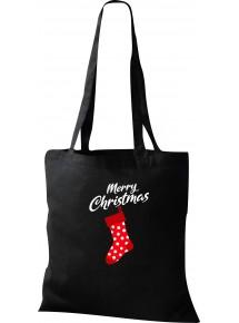 Kinder Tasche, Merry Christmas Weihnachtssocke Frohe Weihnachten, Tasche Beutel Shopper