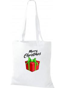 Kinder Tasche, Merry Christmas Geschenk Frohe Weihnachten, Tasche Beutel Shopper