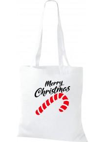 Kinder Tasche, Merry Christmas Zuckerstange Frohe Weihnachten, Tasche Beutel Shopper