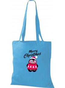 Kinder Tasche, Merry Christmas Pinguin Frohe Weihnachten, Tasche Beutel Shopper