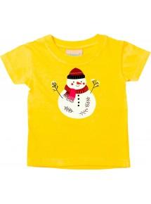 Baby Kids-T, Schneemann Snowman Weihnachten Christmas Winter Schnee Tiere Tier Natur
