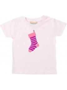Baby Kids-T, Weihnachtssocke Christmas Sock Weihnachten Christmas Winter Schnee Tiere Tier Natur