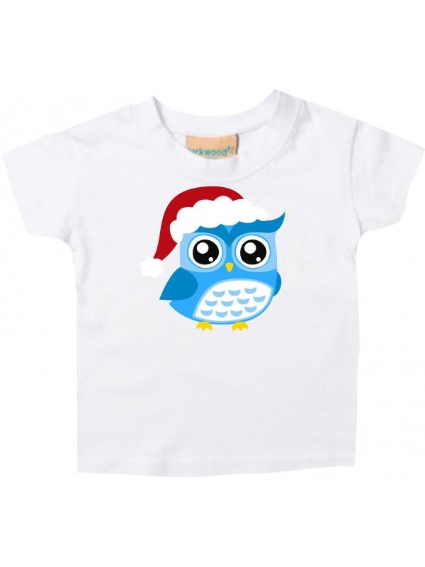 Baby Kids-T, Eule Owl Weihnachten Christmas Winter Schnee Tiere Tier Natur