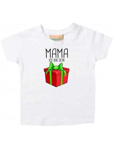 Baby Kids-T, Mama ich bin dein Geschenk Weihnachten Geburtstag, weiss, 0-6 Monate