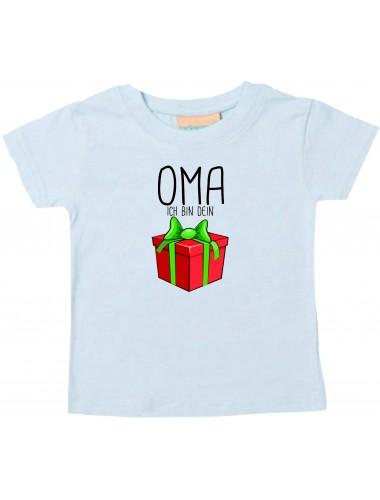 Baby Kids-T, Oma ich bin dein Geschenk Weihnachten Geburtstag, hellblau, 0-6 Monate