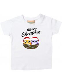 Baby Kids-T, Merry Christmas Eule Frohe Weihnachten
