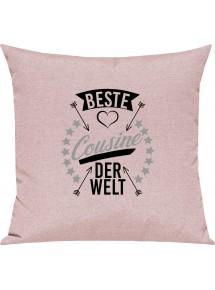Sofa Kissen,  beste Cousine der Welt, Kuschelkissen Couch Deko,