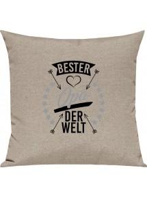 Sofa Kissen,  bester Opa der Welt, Kuschelkissen Couch Deko,