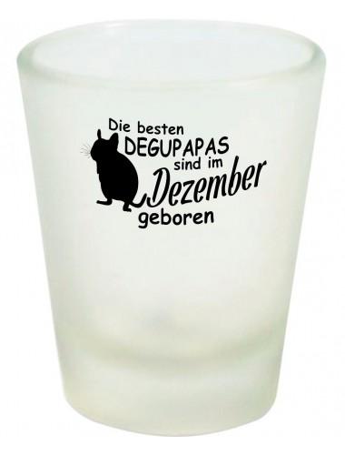 Schnapsglas, Die besten Degupapas sind im Dezember geboren Degu Haustier