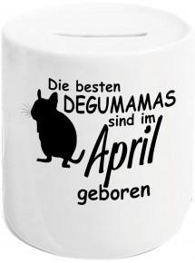 Spardose, Die besten Degumamas sind im April geboren Degu Haustier