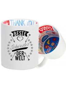 Dankeschön Keramiktasse, beste bester Familie der Welt