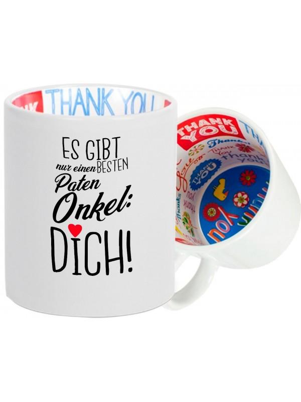 Dankeschön Keramiktasse, es gibt nur einen BESTEN Patenonkel: DICH