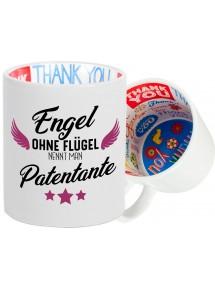 Dankeschön Keramiktasse, Engel ohne Flügel nennt man , Familie