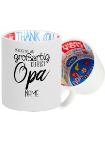 Dankeschön Keramiktasse, Vergiss nie wie großartig du bist , Familie
