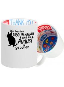 Dankeschön Keramiktasse, Die besten Degumamas sind im  geboren Hund Frauchen Haustier