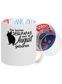 Dankeschön Keramiktasse, Die besten Degupapas sind im  geboren Hund Herrchen Haustier