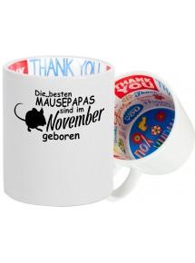 Dankeschön Keramiktasse, Die besten Mäusepapas sind im  geboren Hund Herrchen Haustier
