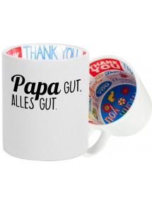Dankeschön Keramiktasse, Papa gut, alles Gut