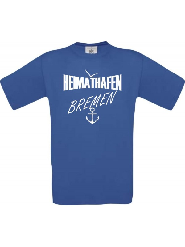 Männer-Shirt Heimathafen Bremen  kult, royal, Größe L