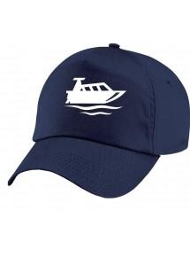 Basecap Original 5-Panel Cap, Motorboot, Yacht, Boot, Kapitän, viele Farben